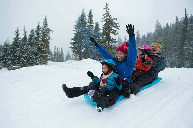 Whistler family Snow tubing fun @ Globalduniya